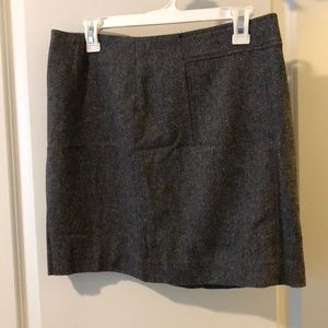 Grey tweed mini skirt